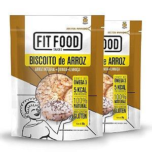Kit 2 Biscoito de Arroz Fit Food Quinoa + Linhaça 90 gramas