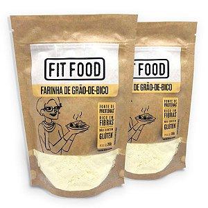 Kit 2 Farinha Grão de Bico Fit Food 200 gramas