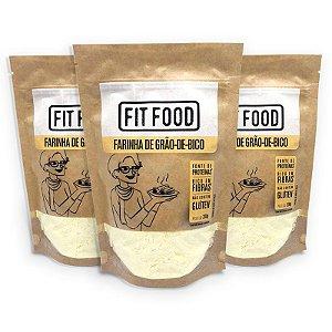 Kit 3 Farinha Grão de Bico Fit Food 200 gramas