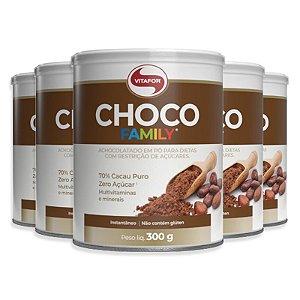 Kit 5 Choco Family Vitafor 300g