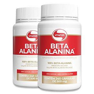 Kit 2 Beta Alanina Vitafor 240 Cápsulas