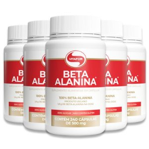 Kit 5 Beta Alanina Vitafor 240 Cápsulas