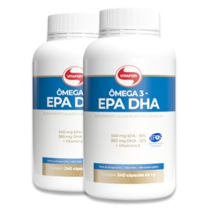 Kit 2 Ômega 3 EPA DHA 1g Vitafor 240 Cápsulas