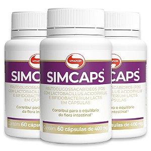 Kit 3 Simcaps Vitafor 60 cápsulas