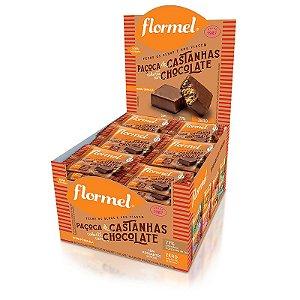 Kit 24 Paçoca de Castanha com Chocolate Zero Açúcar Flormel