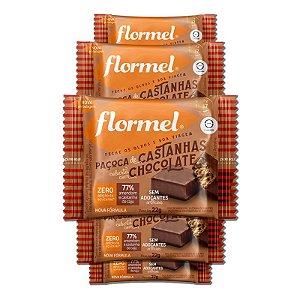 Kit 5 Paçoca de Castanha com Chocolate Zero Açúcar Flormel