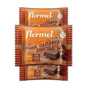Kit 3 Paçoca de Castanha com Chocolate Zero Açúcar Flormel
