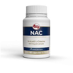 NAC N-Acetil L-Cisteína 600mg Vitafor 60 cápsulas
