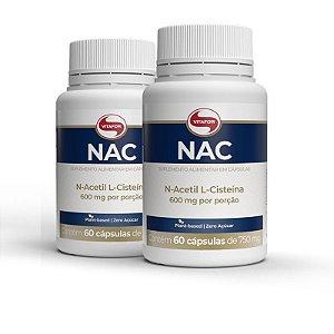 Kit 2 NAC N-Acetil L-Cisteína 600mg Vitafor 60 cápsulas