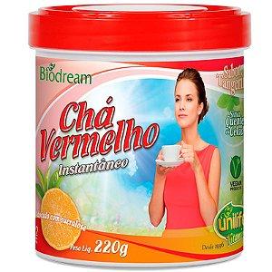 Chá vermelho sóluvel 220g sabor Tangerina Unilife