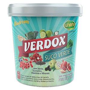 Verdox Suco Detox solúvel 220g sabor abacaxi com hortela Unilife