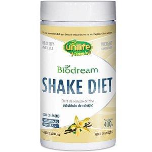 Shake Diet Biodream 400g Sabor  Baunilha Unilife