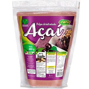 Polpa de Açaí desidratada em pó 400g Unilife
