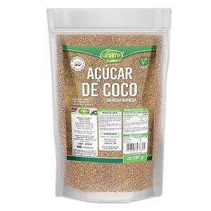 Açúcar de coco 250g Unilife