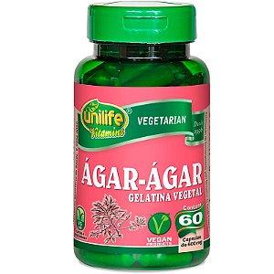 Ágar Ágar Gelatina Natural 60 cápsulas Unilife