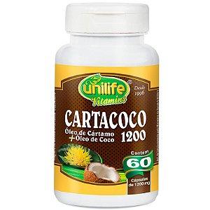 Cartacoco Óleo de Cartamo e Coco 60 cápsulas Unilife