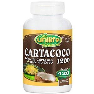 Óleo de cartamo e coco Cartacoco 1200mg Unilife