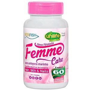Femme Care com Colágeno Marinho 60 cápsulas Unilife