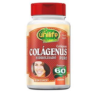 Colágeno Hidrolisado Colágenus 60 cápsulas Unilife
