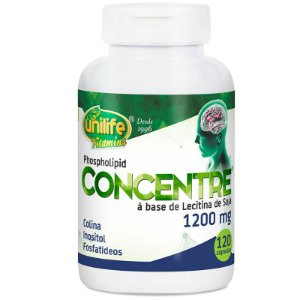 Oléo de lecitina de soja Concentre 120 cápsulas Unilife
