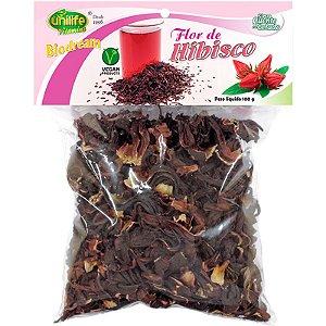 Chá Flor de Hibisco desidratada 100g Unilife