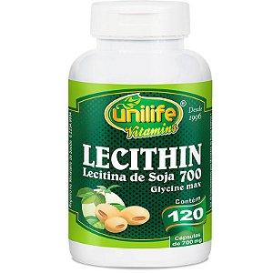 Lecitina de soja 700mg Unilife 120 Cápsulas