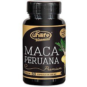 Maca Peruana Premium 550mg Unilife 60 capsulas