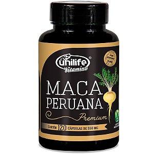 Maca Peruana Premium 550mg Unilife 120 capsulas