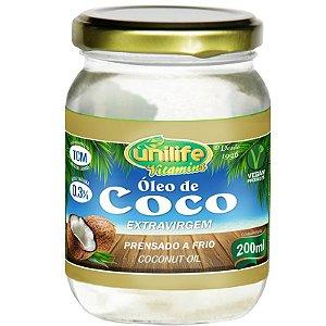 Óleo de Coco Extra Virgem 200ml Unilife
