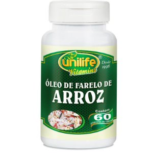 Óleo de Farelo de Arroz 60 cápsulas Unilife