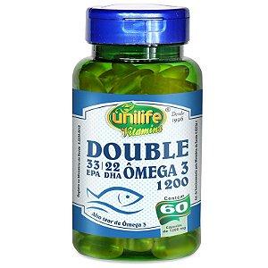 Ômega 3 Double 1200mg 60 cápsulas Unilife