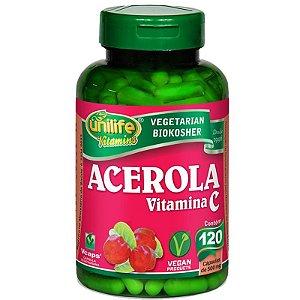 Acerola Vitamina C 120 cápsulas Unilife