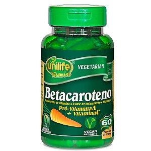 Betacaroteno Pró-Vitamina A 60 cápsulas Unilife