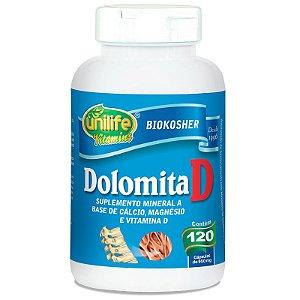Dolomita com Vitamina D 120 cápsulas Unilife