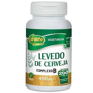 Levedo de Cerveja Complexo B 200 cápsulas Unilife