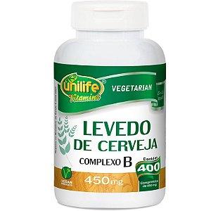 Levedo de Cerveja Complexo B 400 cápsulas Unilife