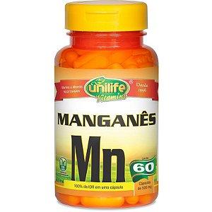Manganês Quelato MN 60 cápsulas Unilife