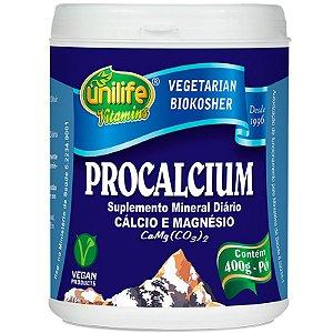 Procalcium Cálcio e Magnésio 400g em Pó Unilife
