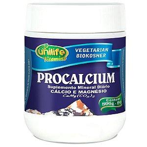 Procalcium Cálcio e Magnésio 800g em Pó Unilife