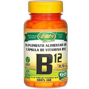 Vitamina B12 Cobalamina 60 cápsulas Unilife
