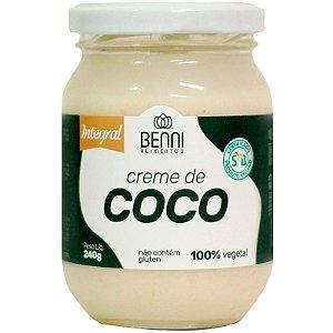 Creme de coco 240g Benni Alimentos
