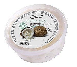 Chips de coco 100g Quali original sem açúcar.