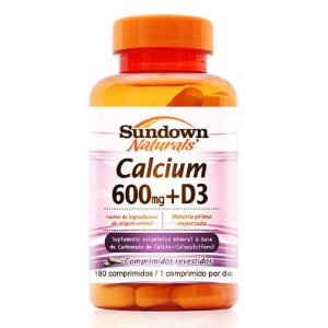 Cálcio 600mg + Vitamina D3 Sundown 180 comprimidos