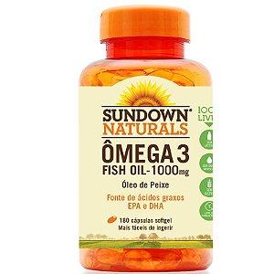 Fish Oil Óleo de Peixe 1000mg Sundown 180 cápsulas
