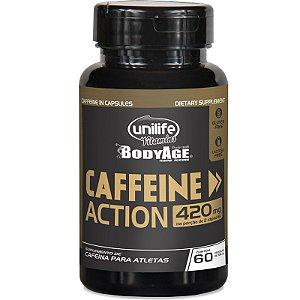 Cafeína 420mg Caffeine Action Unilife 60 cápsulas