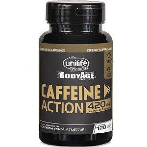 Cafeína 420mg Caffeine Action Unilife 120 cápsulas