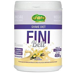 Shake Diet com Colágeno Fini Belt Unilife 400g Baunilha