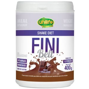 Shake Diet com Colágeno Fini Belt Unilife 400g Chocolate