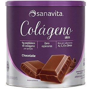 Colágeno Hidrolisado em pó Sanavita 300g Chocolate