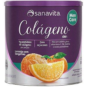 Colágeno Hidrolisado Men Care 300g Laranja Sanavita